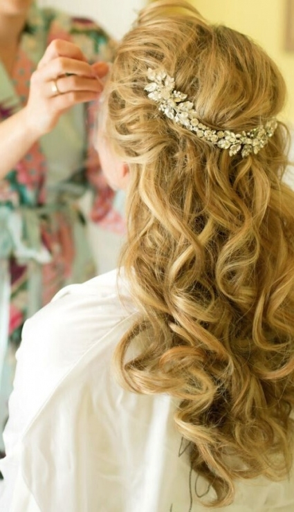 10 Latest Half Up Half Down Wedding Hairstyles – Trendy Hairstyles With Wedding Half Up Half Down Hair