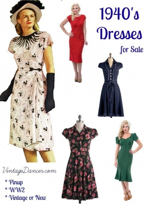 10+ Websites With 1940S Dresses For Sale | 1940S Style Clothing Intended For Dresses For Sale