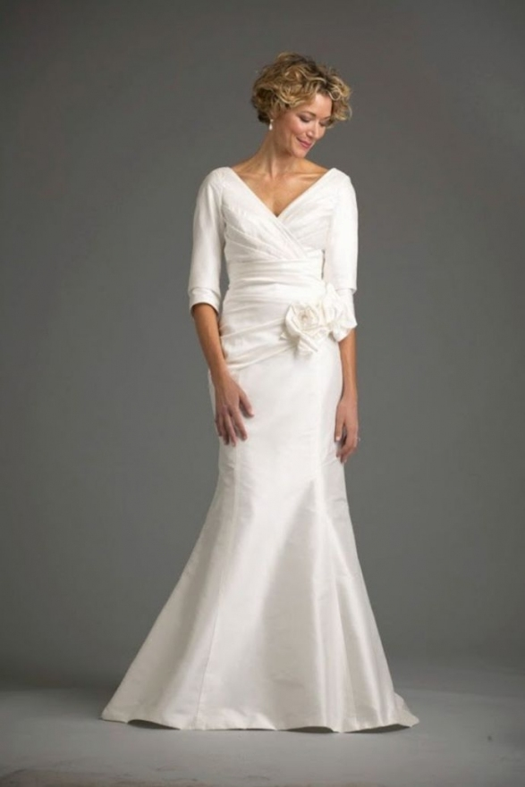Best of Wedding Dresses For Older Brides With Sleeves