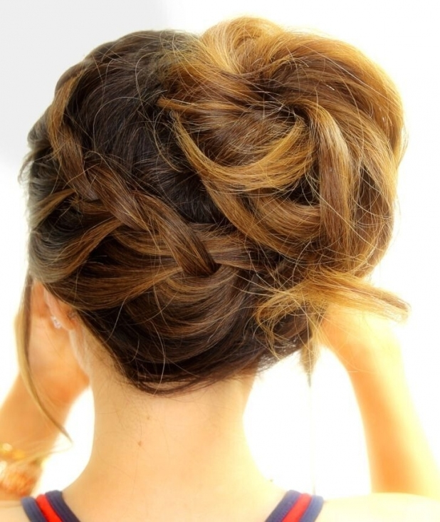 18 Quick And Simple Updo Hairstyles For Medium Hair   Popular Haircuts For Wedding Updos For Medium Hair