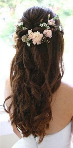 20 Amazing Half Up Half Down Wedding Hairstyle Ideas   Oh Best Day Ever Pertaining To Fresh Wedding Half Up Half Down Hair Klp8