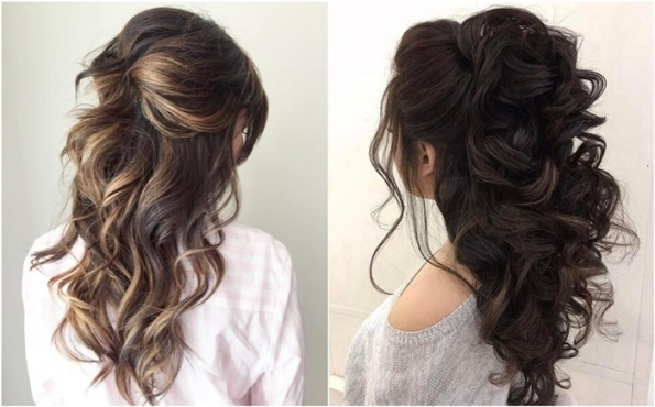 20 Half Up Half Down Wedding Hairstyles Anyone Would Love - Chicwedd in Wedding Half Up Half Down Hair