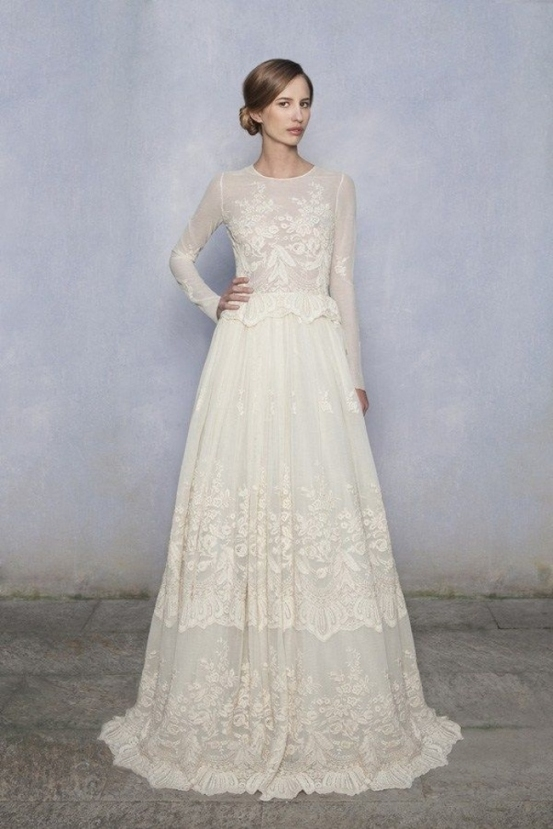 Lovely Sleeved Wedding Dresses kc3