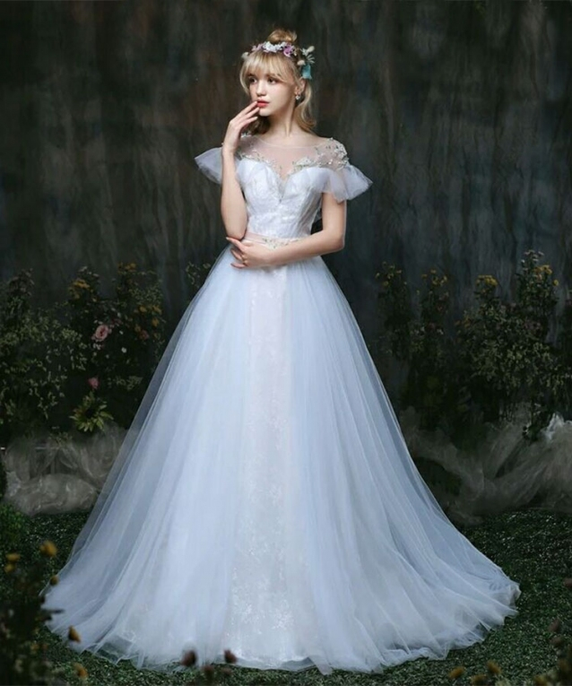 Elegant Fairy Wedding Dress sf8