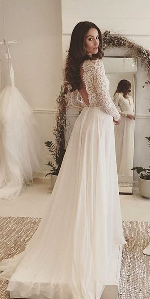 2017 Lace Wedding Dresses With Long Sleeves · Onlyforbrides · Online For Bridal Dresses Near Me