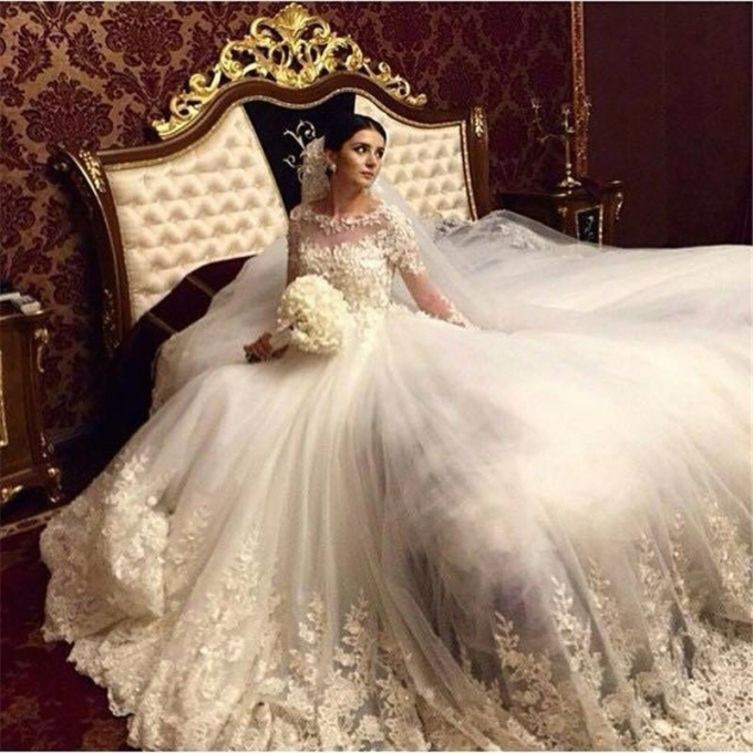 2017 Romantic Victorian Ball Gown Wedding Dresses Scoop Vintage Long Inside Inspirational Bridal Dresses Online Klp8