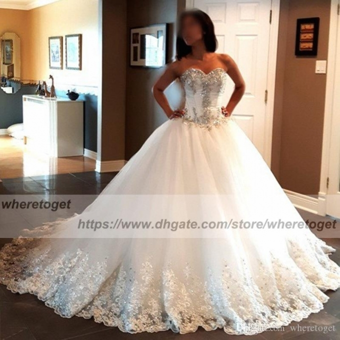 2018 Luxurious Ball Gown Corset Wedding Dresses Puffy Sweetheart Intended For Awesome Corset Wedding Dresses Klp8