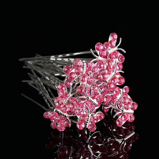 20Pcs/set Women Rhinestone Butterfly Hair Clips Hairpins Wedding With Regard To Hair Pins For Weddings