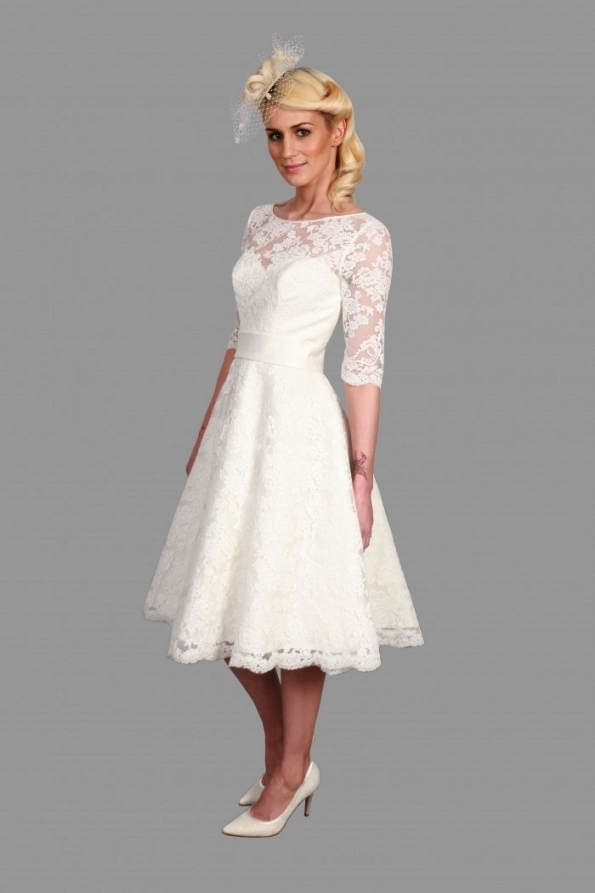 25 Of The Most Beautiful Tea Length Short Wedding Dresses With Throughout Luxury Short Wedding Dresses With Sleeves Kc3