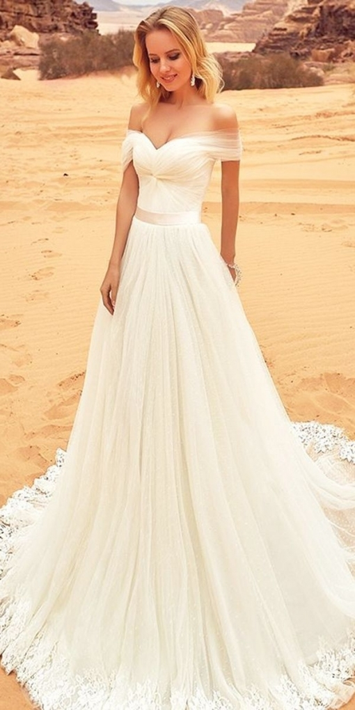 30 Simple Wedding Dresses For Elegant Brides | Joeys Dresses Pertaining To Beautiful Elegant Wedding Dresses Sf8