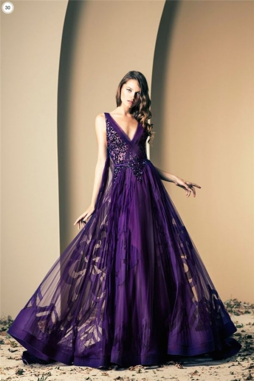 35 Dark Purple Wedding Color Ideas For Fall/winter Weddings Intended For Purple Wedding Dresses