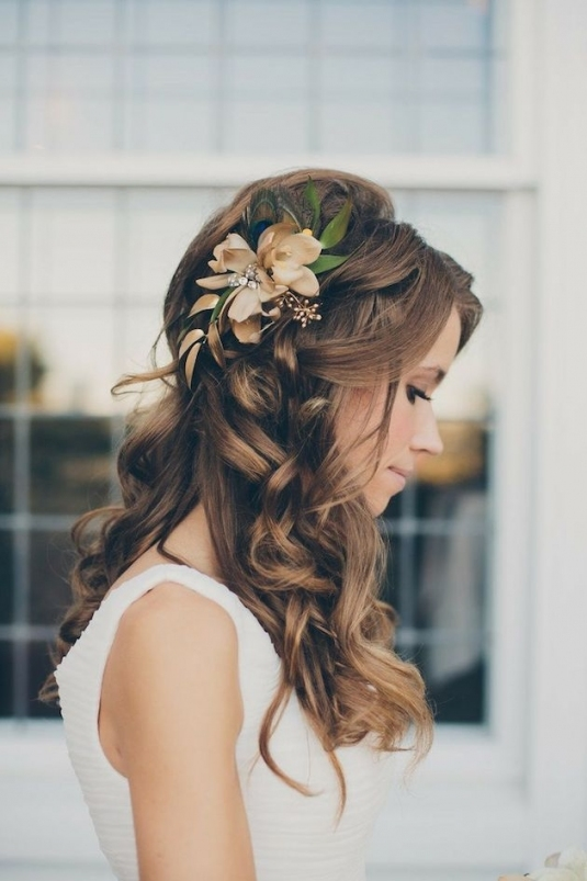 40 Stunning Half Up Half Down Wedding Hairstyles With Tutorial with regard to Wedding Half Up Half Down Hair