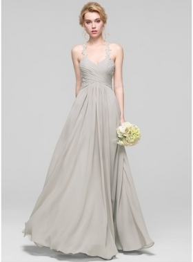 A Line/princess Sweetheart Floor Length Chiffon Bridesmaid Dress Pertaining To Beautiful Dress For Wedding Party Klp8