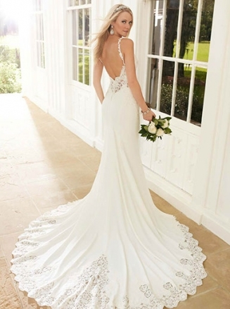Backless Wedding Dresses | Open Back Bridal Gowns | Essense Of Australia Throughout Lace Backless Wedding Dress