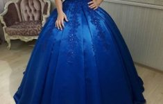 Ball Gown Off Shoulder Royal Blue Wedding Dress Sequins Appliques in Unique Royal Blue Wedding Dresses kc3