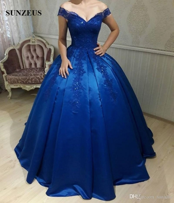 Unique Royal Blue Wedding Dresses kc3