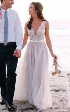 Beach & Destination Bridal Dresses, Casual & Informal Wedding Gowns For Simple Wedding Dresses For The Beach