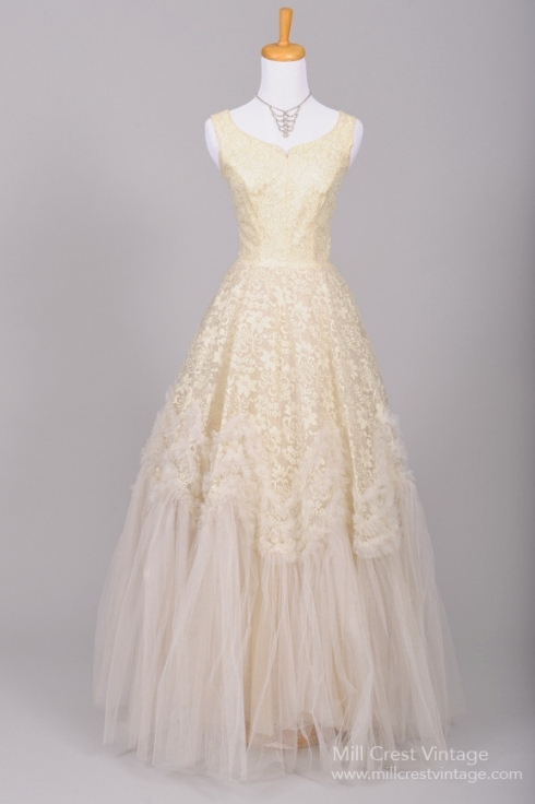 Beautiful Authentic Vintage 1950S Wedding Dresses : Chic Vintage Brides Intended For 1950S Wedding Dresses