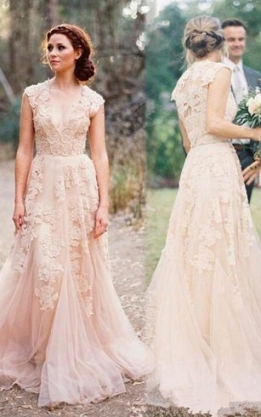 Blush Color Bridal Dresses | Wedding Gown With Light Pink   Dorris Throughout Awesome Light Pink Wedding Dress Fg8