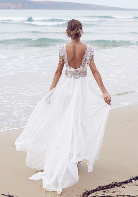Casual Beach Wedding Dresses To Stay Cool | Summer Inspiration Inside Casual Beach Wedding Dresses