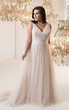 Casual Plus Figure Wedding Gowns, Informal Large Size Bridals Dress Inside Plus Size Casual Wedding Dresses