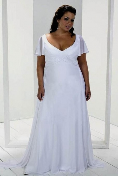 Unique Plus Size Casual Wedding Dresses sf8