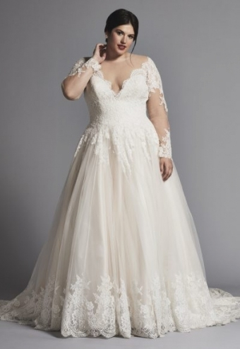 Category: Plus Size | Kleinfeld Bridal Regarding Plus Size Wedding Dresses With Sleeves