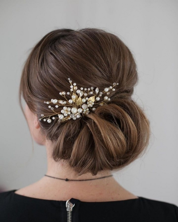 Chic Wedding Hair Updos For Elegant Brides | Hairstyling   Women With New Wedding Updos For Medium Hair Fg8
