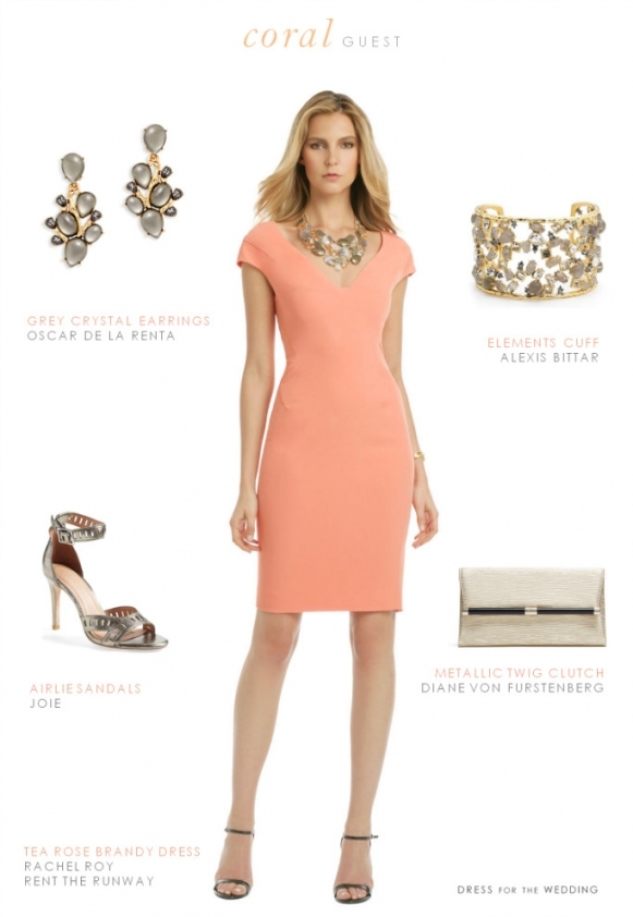 Coral Dress For Wedding Guest | Best Seller With Regard To Fresh Coral Dress For Wedding Kls7
