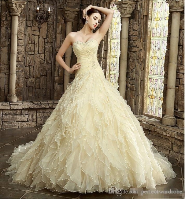 Discount 2017 Yellow Wedding Dresses Online Colorful Wedding Dresses In Bridal Dresses Online