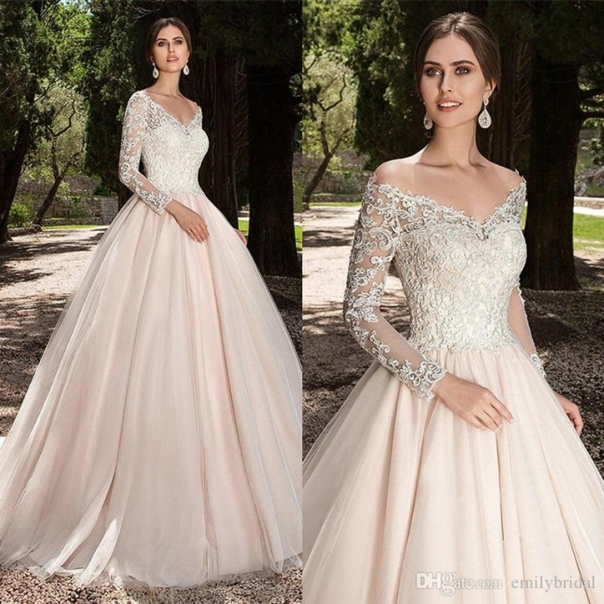 Beautiful Champagne Wedding Dresses klp8