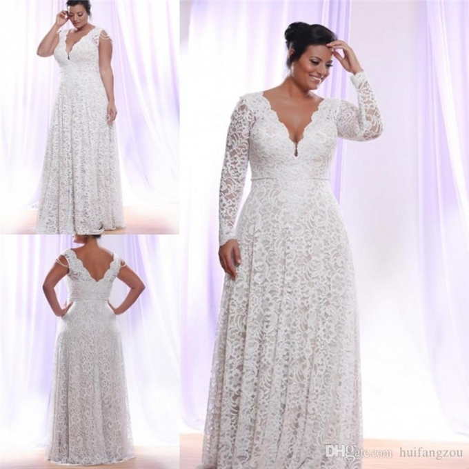 New Plus Size Wedding Dresses With Sleeves df9
