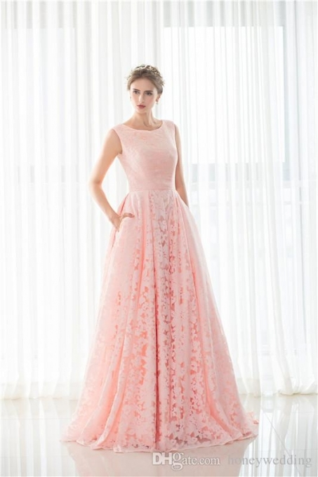 Discount Modest Light Pink Wedding Gowns Jewel Neck Sleeveless In Awesome Light Pink Wedding Dress Fg8