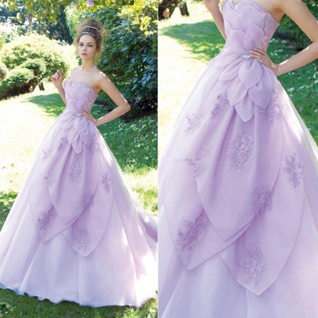 Discount New Unique Style A Line Purple Wedding Dresses Sweetheart With Regard To Purple Wedding Dresses