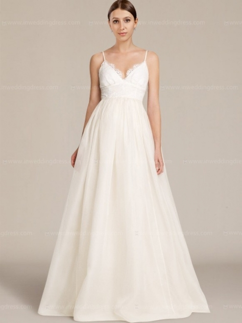 Discount Wedding Dress With Spaghetti Straps With Discounted Wedding Dresses