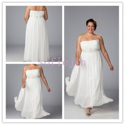 Elegant Chiffon Ankle Length Casual Beach Wedding Dresses 2012 Plus For Unique Plus Size Casual Wedding Dresses Sf8