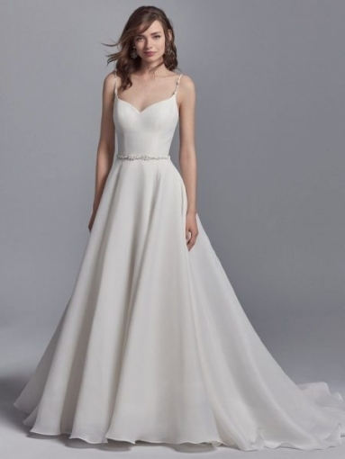 Elegant Sweetheart Organza Sleeveless A Line Wedding Dress Regarding Beautiful Elegant Wedding Dresses Sf8