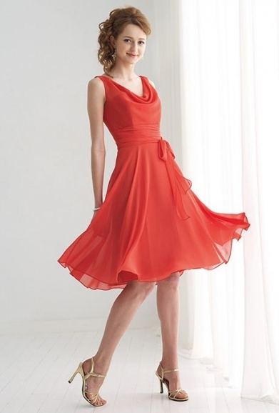 Even In This Color The Dress Is Pretty Amazing For A Bridesmaid With Regard To Coral Dress For Wedding