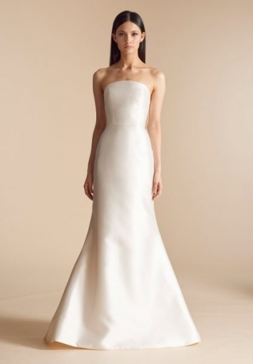 Fit And Flare Strapless Wedding Dress With Chapel Train | Kleinfeld Regarding Strapless Wedding Dresses