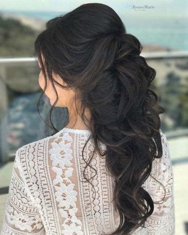 Half Up Half Down Wedding Hairstyle Get Inspiredfabulous Wedding with regard to Fresh Wedding Half Up Half Down Hair klp8