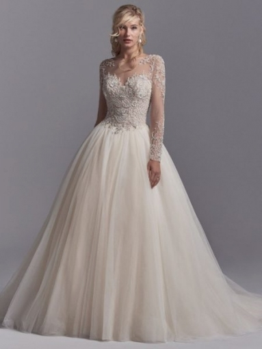 Elegant Wedding Dresses With Lace Sleeves kc3