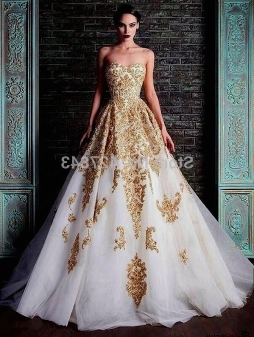 Image Result For Blue And Gold Wedding Dress | Blue & Gold In White And Gold Wedding Dress