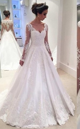 Lace Bridal Dress With Long Sleeves   Lace Sleeve Wedding Gowns With Regard To Long Sleeve Lace Wedding Dresses