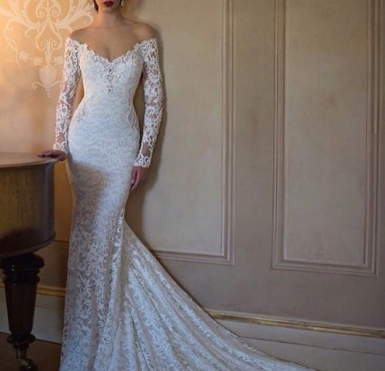 Elegant Tight Wedding Dresses df9