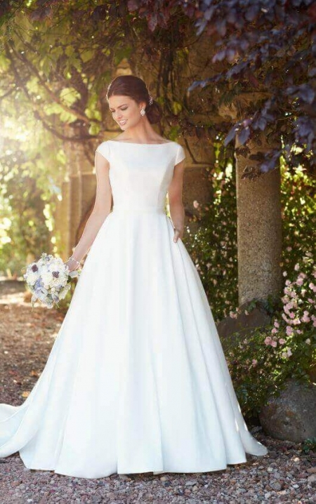 Luxury Modest Wedding Dresses With Sleeves kc3