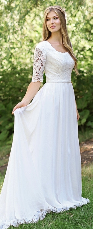 Modest Wedding Dresses & Bridal Gowns 2018 In Modest Wedding Dresses With Sleeves
