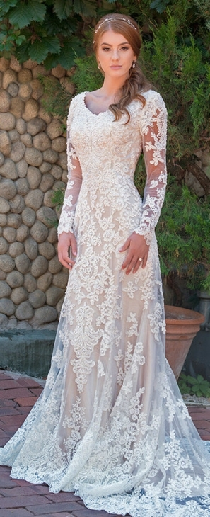 Modest Wedding Dresses & Bridal Gowns 2018 With Modest Wedding Dresses With Sleeves