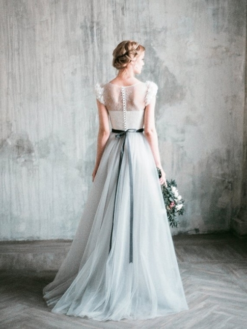 Luxury Grey Wedding Dress ty4