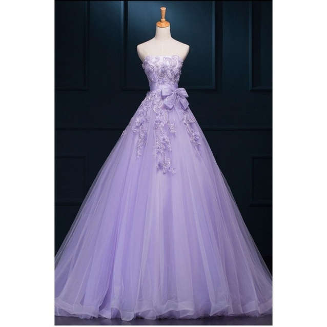 Outlet Purple Wedding Dresses, Long Wedding Dresses, Long Purple Within Elegant Purple Wedding Dresses Df9