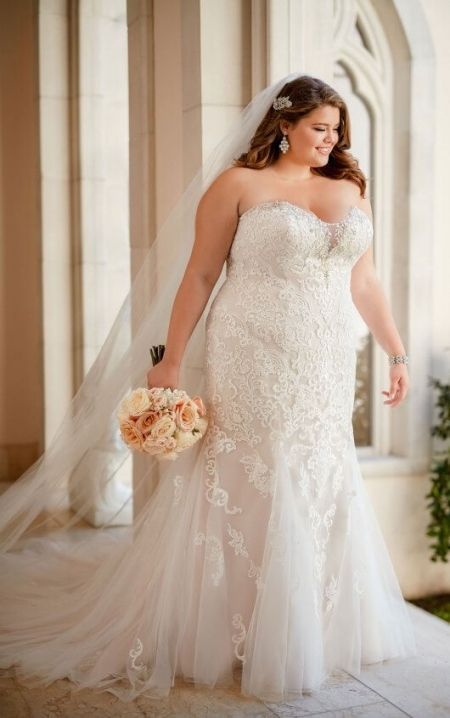 Plus Size Vintage Lace Wedding Dress | Stella York In Lovely Vintage Lace Wedding Dresses Jk4